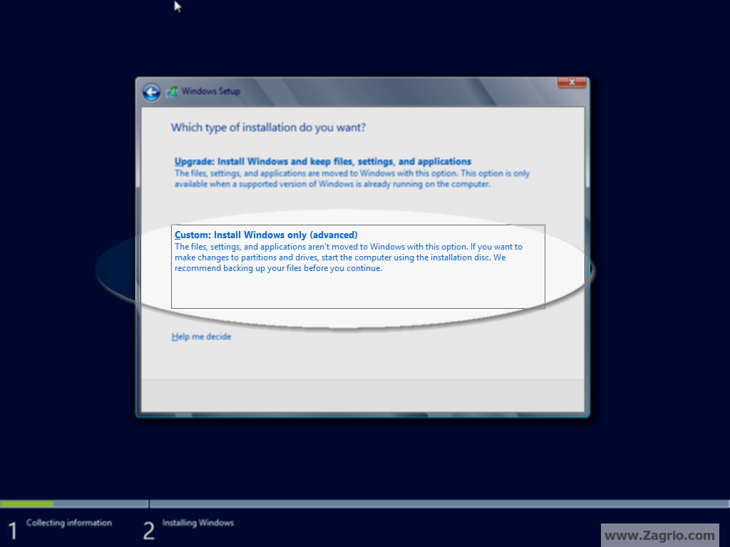 Install Windows Server 2012 Core Mode